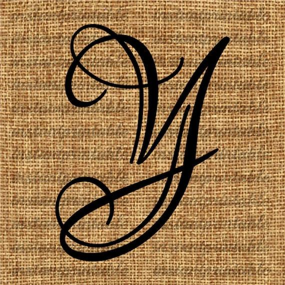 Monogram Initial Letter Y Letter Clip Art Letter Decal