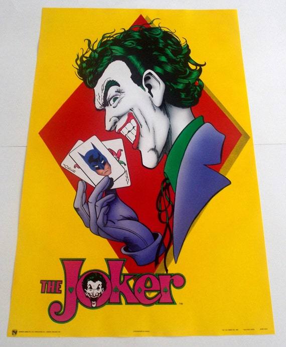 The JOKER Poster From 1989 DC COMICS Batman Suicide Squad