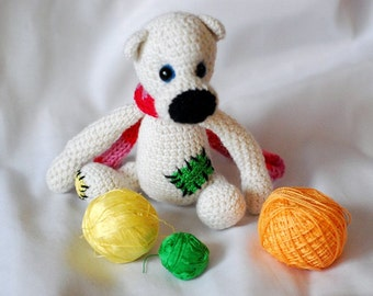 White bear croched pattern