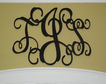 "FREE SHIPPING 18"" Monogram Wood Letter Initials"