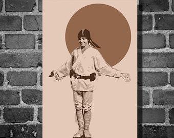 Star Wars Luke Skywalker movie poster minimalist poster star wars art luke cripwalker