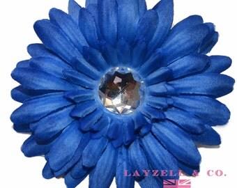 Blue Crystal Daisy Flower 4 in 10 Flowers