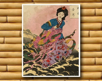 Asian Decor Japan Art Poster Classic Japanese Print (J59)