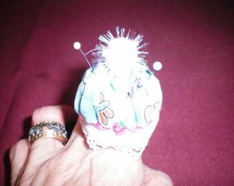 Pretty Bottlecap Pincushion Ring