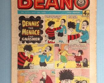 "Vintage July 10th 1976 ""Beano"" comic"