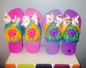 Little Girl Embellished Flip Flops