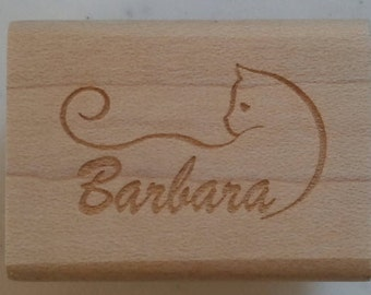 Cat Name Custom Stamp - C501