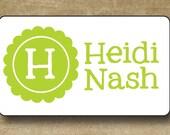 Personalized waterproof Stickers, Monogram Waterproof Stickers, Lime Green, Sippy Cup Stickers, Daycare Labels, Vinyl Waterproof Stickers