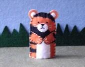 Tiger Finger Puppet - Felt Finger Puppet Tiger - Tiger Puppet - Felt Animal Puppet - Zoo Animal Puppet Tiger - Circus Puppet