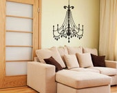 Large Glamour Chandelier wall decal - Wall Chandelier, Chandelier wall décor, Chandelier wall art, Chandelier decals, Wall Chandeliers.