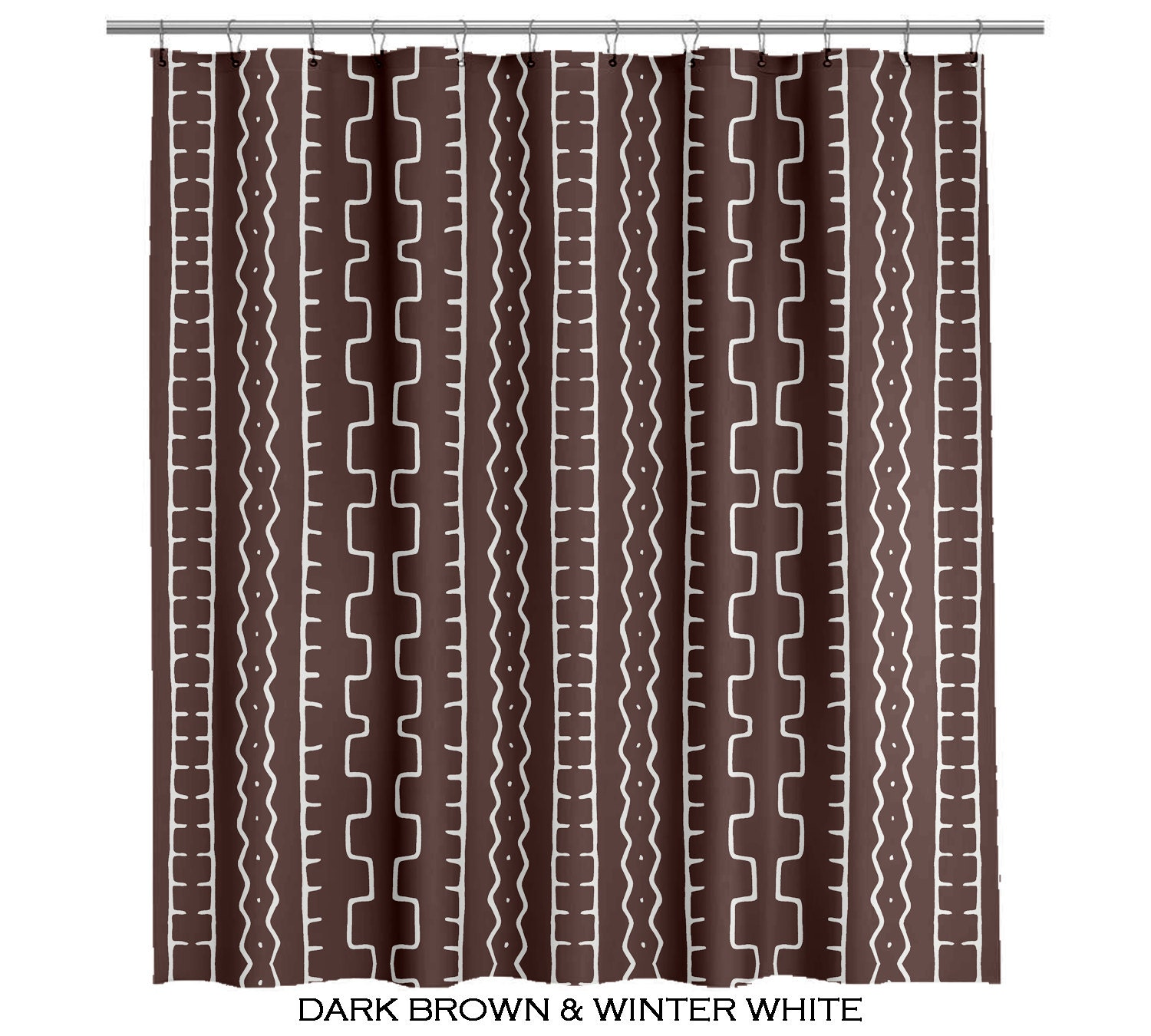 bathroom shower curtains custom african mudcloth by anitavee