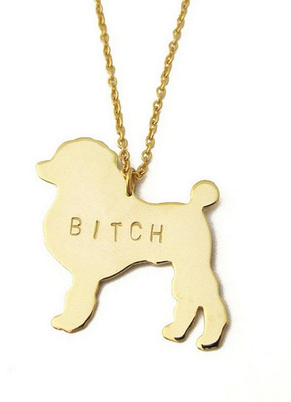 BITCH Please Necklace
