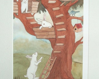 Tree House - Fine Art Rabbit Print