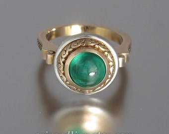 MARIA 14K gold ring with 2.15ct Emerald