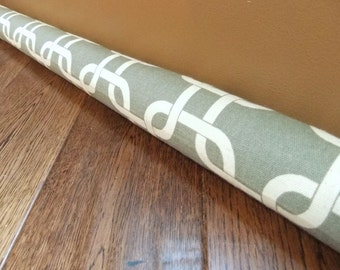 GRAY geometric door draft stopper, draft snake, draught excluder, draft stopper, home and living