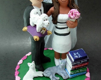 Mixed Race - Interracial Wedding Cake Topper