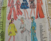 Vintage 60s McCalls 2123 Teen Fashion Barbie Wardrobe Clothing Sewing Pattern Uncut