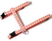 Cat Harness - Orange Gingham - Cute, Soft and Fancy for Cats and Kittens