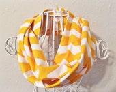 Yellow chevron infinity scarf