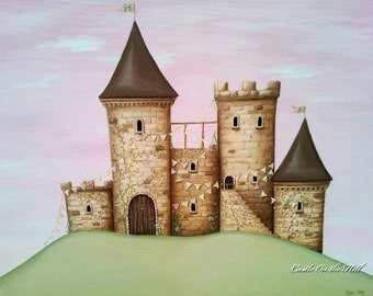 The Castle 24 x 30 - Large custom painting
