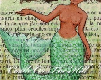 Mermaid Mami Wata - 5 x 7 print