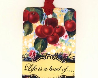 Cherries Gift Tags , Red Cherries , Life is a Bowl of , Cherry Tags , Fruit Gift Tags