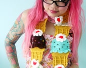 Ice Cream Cone Scarf - Made to Order