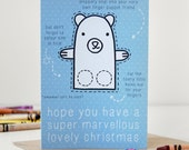 Polar Bear Finger Puppet Christmas Card