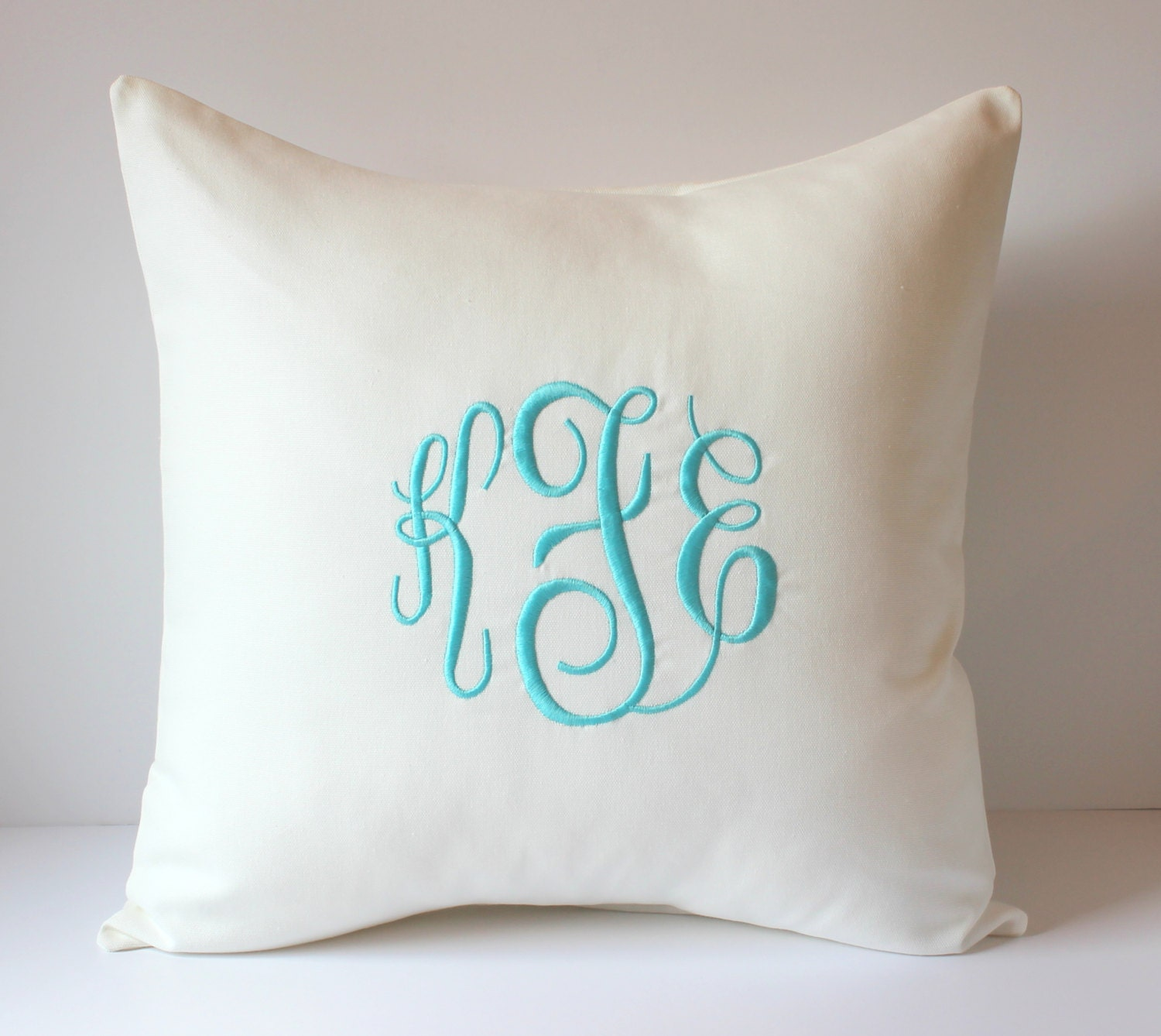 Decorative Pillows With Monogram : WEDDING GIFT. Monogram Decorative Pillow Cover 18 X 18. Gift