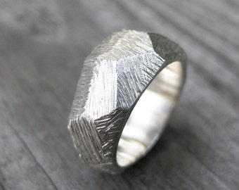 FACETS A  ring custom size 5 solid sterling silver