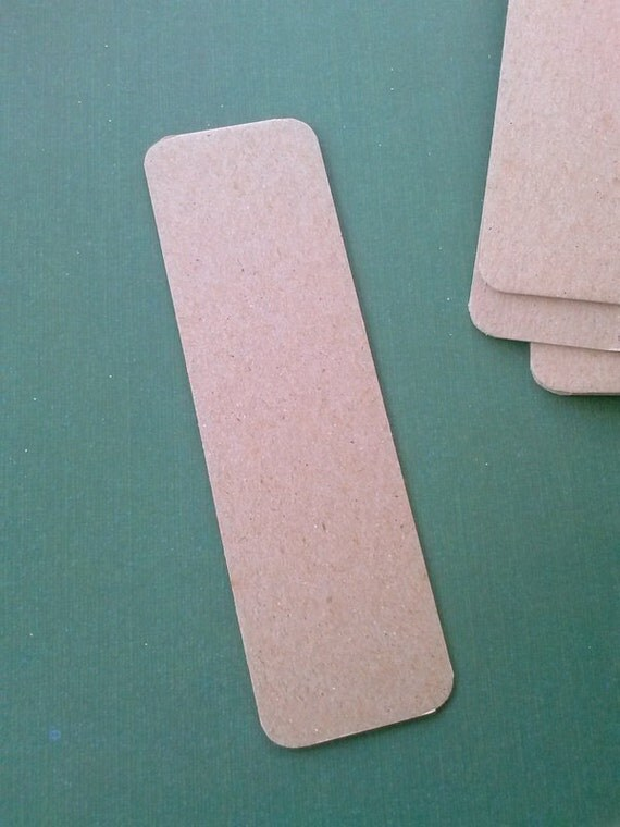 chipboard bookmark blanks with rounded corners - set of 20