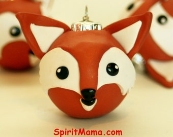 Kawaii FOX Holiday Ornament