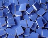 Mosaic Tiles Pieces 150 Vintage Periwinkle Bluish Purple -  Broken Plate -Tessera