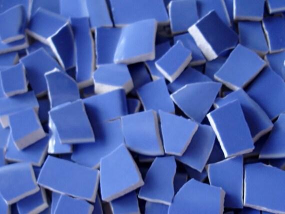 Mosaic Tiles 100 Vintage Periwinkle Bluish Purple -  Broken Plate -Tessera