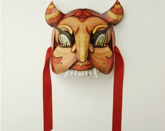 PDF Devil Mask Masquerade Party Download. DIY - Great Paper Pop Up Project. Pop Up Animal Mask.