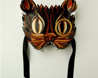 PDF Black Cat Masquerade Mask Download. DIY - Great Paper Pop Up Project. Pop Up Animal Mask.