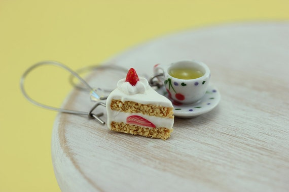 Afternoon Tea and Cake Earrings
