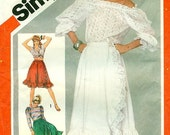 Simplicity 5758 - Front Wrap Ruffled Skirt in 3 Lengths, circa 1982