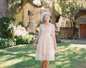 Ellie--2 Piece, Lace and Cotton Wedding Dress--Super Sale--Final Sale