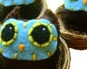 Owl Baby Pin - Eco-friendly Handsewn Felt Plush Owl Brooch/Pin
