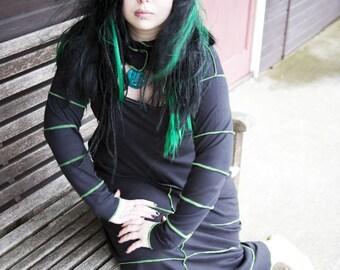 Gothic Stripe Shrug - Goth - Grunge - Cyber Ware - Alternative - Sizes 6 to 30 -