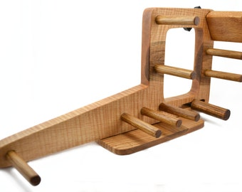 Mini Inkle Loom, Tablet Weaving, Card Weaving Loom With Double Tension System - Handcrafted From Solid Maple & Red Oak - 15 Inch