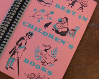 Best in Children's books, A Recycled Hardcover Vintage Book Journal