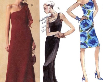 Bride Bridesmaid gown Evening Elegance dress evening or cocktail length sewing pattern McCalls 3606 Sz 4 to 10 Uncut