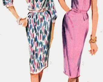 1960 Womens MadMen Wiggle Dress  Advance 3456 Vintage 60s Sewing Pattern Size 18.5 UNCUT