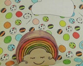 Waldorf Inspired Rainbow Cloud Toy