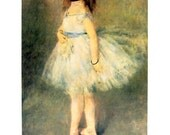 French Impressionist Art - Auguste Renoir - The Dancer- 1977 Large Poster Sized Print 12 x 15