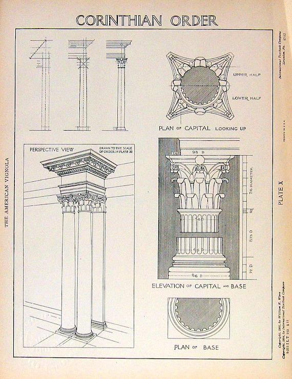 Corinthian Order Drawing Corinthian Order 1904