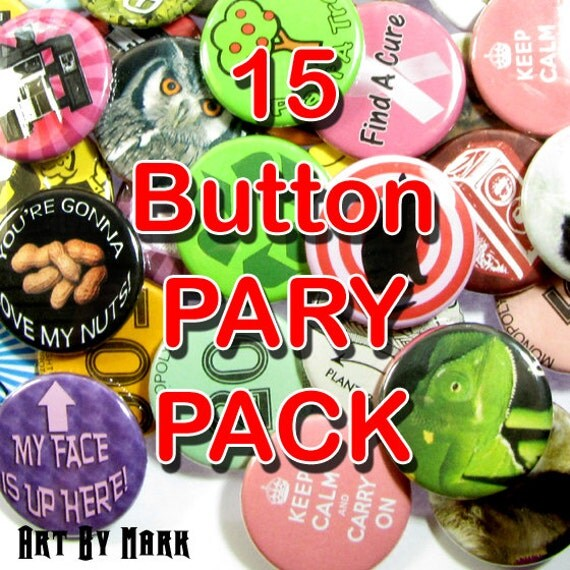 Pinback Button 15 pack