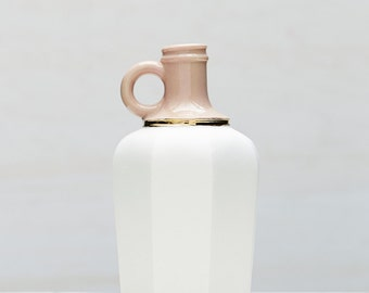 Soft Light Pink Porcelain Vessel with Gold Luster Accent // Modern Home Goods by Red Raven Studios Made in Pittsburgh